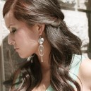 18k white gold plated over silver earrings
