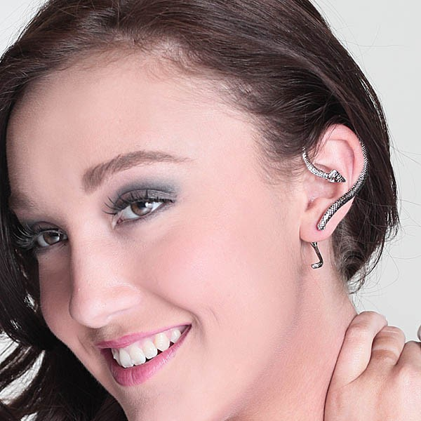 e6090169f Silver Snake one sided Earring - O'Pearl Brands