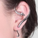 Silver Snake one sided Earring